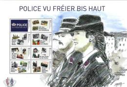 Luxembourg  -  Bloc  30.06.2019  -  Police Vu Fréer Bis Haut - FDC
