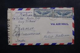 ETATS UNIS - Enveloppe De Oyster Bay Pour La France En 1941 Avec Contrôle Postal - L 47597 - Marcophilie