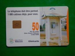 Télécarte Cote D'ivoire, 50 Unités, Utilisé, Traces - Côte D'Ivoire