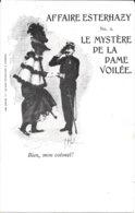 """SATIRIQUE - L'AFFAIRE DREYFUS ZOLA-ESTHERAZY """" La Dame Voilée  N° 2  """"  Bien, Mon Colonel !  """"   JUDAÏCA - Satira"""