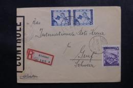 AUTRICHE - Enveloppe En Recommandé De Kitzbühel Pour Genève En 1946 Avec Contrôle Postal - L 47600 - 1945-.... 2a Repubblica