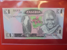 ZAMBIE 1 KWACHA 1980-88 PEU CIRCULER/NEUF (B.9) - Zambie