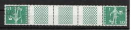 CURIOSITE // SUISSE Tête-bêche Oblitérés YT 644f Avec Pont De 3 Cases (LIQ.) - Zusammendrucke