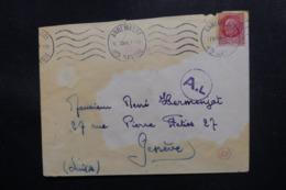 FRANCE - Enveloppe De Annemasse Pour La Suisse En 1944 Avec Contrôle Postal - L 47607 - Marcophilie (Lettres)