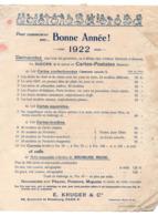 Paris 10e ,bd De Strasbourg  : Tarif CARTES POSTALES  Fantaisie  E KRUGER  1922 (PPP21134) - Pubblicitari
