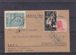 Espagne - Carte Postale De 1939 - Exp Vers Charleroi - Avec Censure - Soldats - - 1931-50 Briefe U. Dokumente