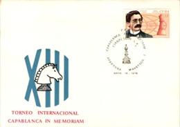 Chess Schach Echecs Ajedrez - Cienfuegos. Cuba 1976_Capablanca Memorial  Opening Masters - Souvenir Card_CKM 530b - Schach