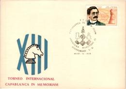 Chess Schach Echecs Ajedrez - Cienfuegos. Cuba 1976_Capablanca Memorial  Opening Masters - Souvenir Card_CKM 530d - Schach