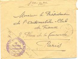 GUERRE 14-18 8e COMPAGNIE DE CANTONNIERS MILITAIRES TàD VENTRON VOSGES 30-4-15 => AUTOMOBILE CLUB DE FRANCE - Storia Postale