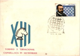 Chess Schach Echecs Ajedrez - Cienfuegos. Cuba 1976_Capablanca Memorial  Opening Masters - Souvenir Card_CKM 530f - Schach