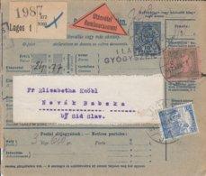 Bulletin D'expédition De LUGOS Du 11.4.1917 Adressé à Sid - Paketmarken