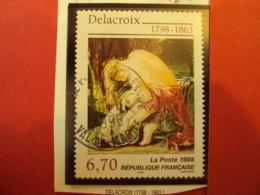 """1990-99 -timbre Oblitéré   N°3147        """"oeuvre De DELACROIX       """"          Net       0.80 - Used Stamps"""