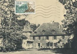 D38540 CARTE MAXIMUM CARD 1966 FRANCE - MENTHON - HOUSE OF PHILOSOPHER HIPPOLYTE TAINE CP ORIGINAL - Famous People