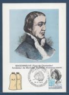 France - Carte Maximum - Paul De Chomedey - Moisonneuve - Neuville Sur Vanne - 1972 - Maximumkarten