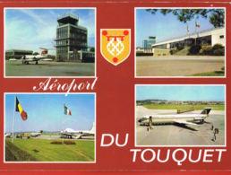 CPSM 62- LE TOUQUET- Aéroport Du Touquet- Multivues  Voyagée 1975- Scans Recto Verso-Paypal Sans Frais - Le Touquet