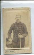 Soldat Du 11° Regiment-photo Pervez-Nantes- -10,5cm Sur 6,5cm-bombée - Guerra, Militares