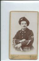 Soldat Du 27° Chasseurs Alpins-Louis Gaou En 1900-photo Sigaud Louis-6,50cm Sur 10,50cm - Guerra, Militares