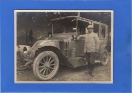 AUTOMOBILE - Carte Photo D'un Militaire Et Son Auto - Passenger Cars