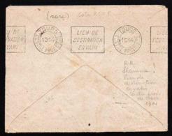 FRANCE (Guerre 1914/18) Timbre N° 138 Obl Flamme Paris XIX, 139 Rue D'Allemagne En 1914.......... - Marcophilie (Lettres)