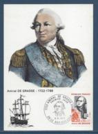 France - Carte Maximum - Amiral De Grasse - Le Bar Sur Loup - 1972 - Maximum Cards