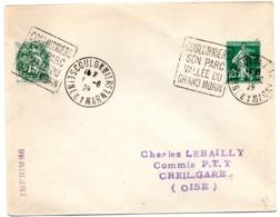 SEINE Et MARNE - Dépt N° 77 = COULOMMIERS 1928 = FLAMME DAGUIN ' SON PARC / VALLEE GRAND MORIN (grandes Lettres)' - Marcofilia (sobres)