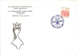 Chess Schach Echecs Ajedrez - Belgrade. Yugoslavia 1977_13th Women's International Tournament_Souvenir Cover_CKM 7709 - Schach