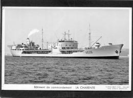 CPSM Format CPA - Bâtiment De Commandement LA CHARENTE - Warships