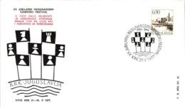Chess Schach Echecs Ajedrez - KRK. Yugoslavia 1977_20th International Team Tournament_Souvenir Cover_CKM 7721a - Schach