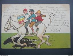 CPA - Carte Publicitaire Peek, Frean & Co's - London- Mixed Biscuits- Circulée - Précurseur - Publicité