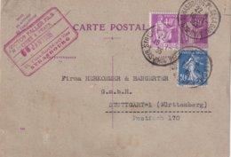 FRANCE 1935     ENTIER POSTAL/GANZSACHE/POSTAL STATIONERY CARTE DE STRASBOURG - Biglietto Postale