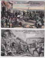 Die Ersten Gefangenen Von Maubeuge - Der Fall Der Zwei Ersten Forts Lot De 2 Cartes Postales Dessin Grande Guerre - Maubeuge