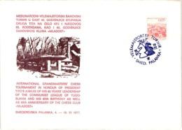 Chess Schach Echecs Ajedrez -Smederevska Palanka. Yugoslavia 1977_International Tournament_Souvenir Cover_CKM 7724 - Schach