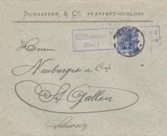 Pfastatt I.E. Zensurbrief In Die Schweiz 1915 - Storia Postale
