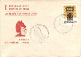 Chess Schach Echecs Ajedrez - Zabrze. Poland 1977_1st International Tournament_Souvenir Cover_CKM 7734 - Schach