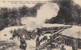 CPA - Soldat Belges Installant Un Canon Dans Un Fort - Guerre 1914-18