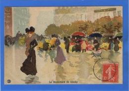 ILLUSTRATEURS Signés - Le Boulevard De Clichy Par Abel Trichet - Autres Illustrateurs