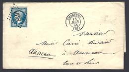 LETTRE EN PROVENANCE DE CHARTRES - 1866 - - 1863-1870 Napoleon III With Laurels