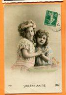 LAC097, Sincère Amitié, Petites Filles, Papillon, Butterfly, 7401, Circulée - Autres