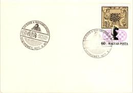 Chess Schach Echecs Ajedrez - Kecskemét. Hungary 1977_50th Anniversary Of The First Hungarian Chess Cancel_Card_CKM 7745 - Schach