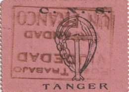 España. Cupon Phalanx Tradicionalista Español. C.N.S Tánger. Trabajo. Orfandad. Viudedad 1 Franco. 10 Cts. Recibo 1941 - Tickets - Entradas