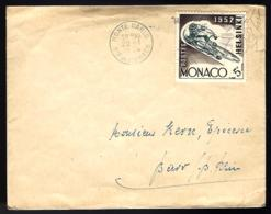 LETTRE EN PROVENANCE DE MONACO MONTECARLO - 1954 - THÈME CYCLISME - - Cyclisme