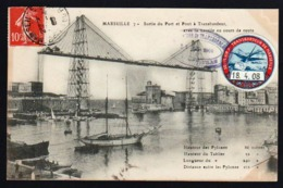 FRANCE (Erinnophilie) Plan TOP Sur Le Pont Transbordeur. Carte Maximum Avec Une Vignette................ - ...-1929