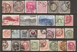 27 Timbres Anciens Du Japon - Japón