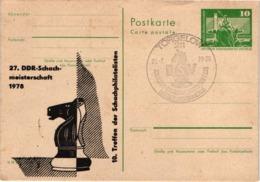 Chess Schach Echecs Ajedrez - Torgelow. DDR 1978_27th DDR Women's Championship_Souvenir Card_CKM 7804 - Schach