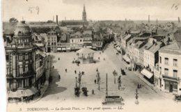 "B61276 Cpa Tourcoing - La Grande Place "" Kiosque "" - France"