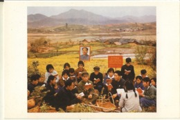 Chine-china-affiche De Propagande -lecture Du Petit Livre Rouge--repro Cpm - Eventi