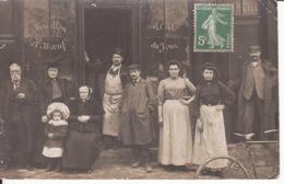 Carte Photo, Hôtel Restaurant, Belle Animation, Vélo, 1908, 2 Scans - Ristoranti