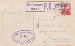 Ansichtskarte-Rigi-Kaltbad Schweiz Nach Rixheim-Zensurstempel 1915 - Enteros Postales