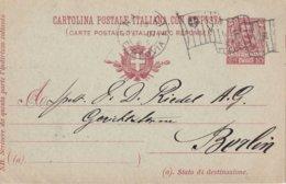 ITALIE 1907     ENTIER POSTAL/GANZSACHE/POSTAL STATIONERY CARTE SANS LE COUPON REPONSE DE NAPOLI - 1900-44 Victor Emmanuel III