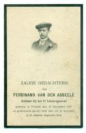 WO1 / WW1 - Doodsprentje Van Den Abbeele Ferdinand - Ternat / Aarschot  - Gesneuvelde - Obituary Notices